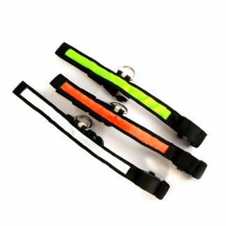 all collars colors orange white green